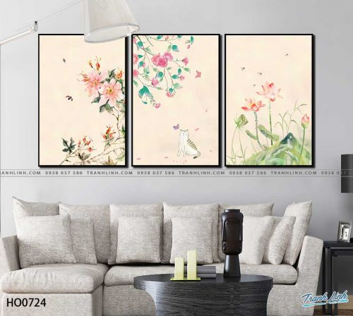tranh canvas hoa 724