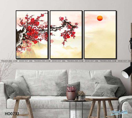 tranh canvas hoa 733