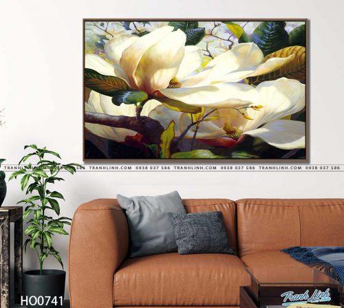 tranh canvas hoa 741