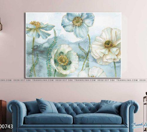 tranh canvas hoa 743