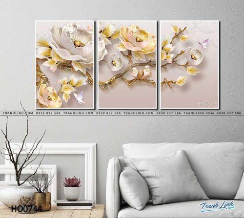 tranh canvas hoa 744