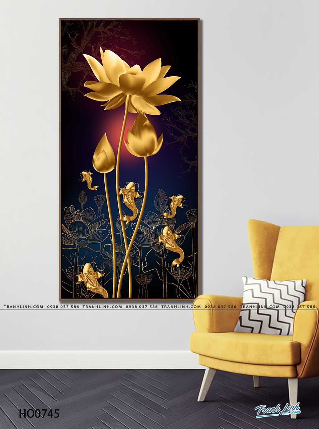 tranh canvas hoa 745