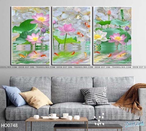 tranh canvas hoa 748