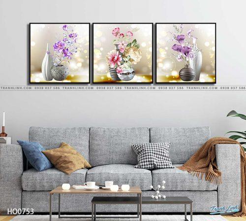 tranh canvas hoa 753