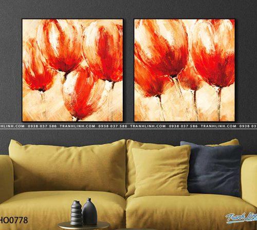 tranh canvas hoa 778