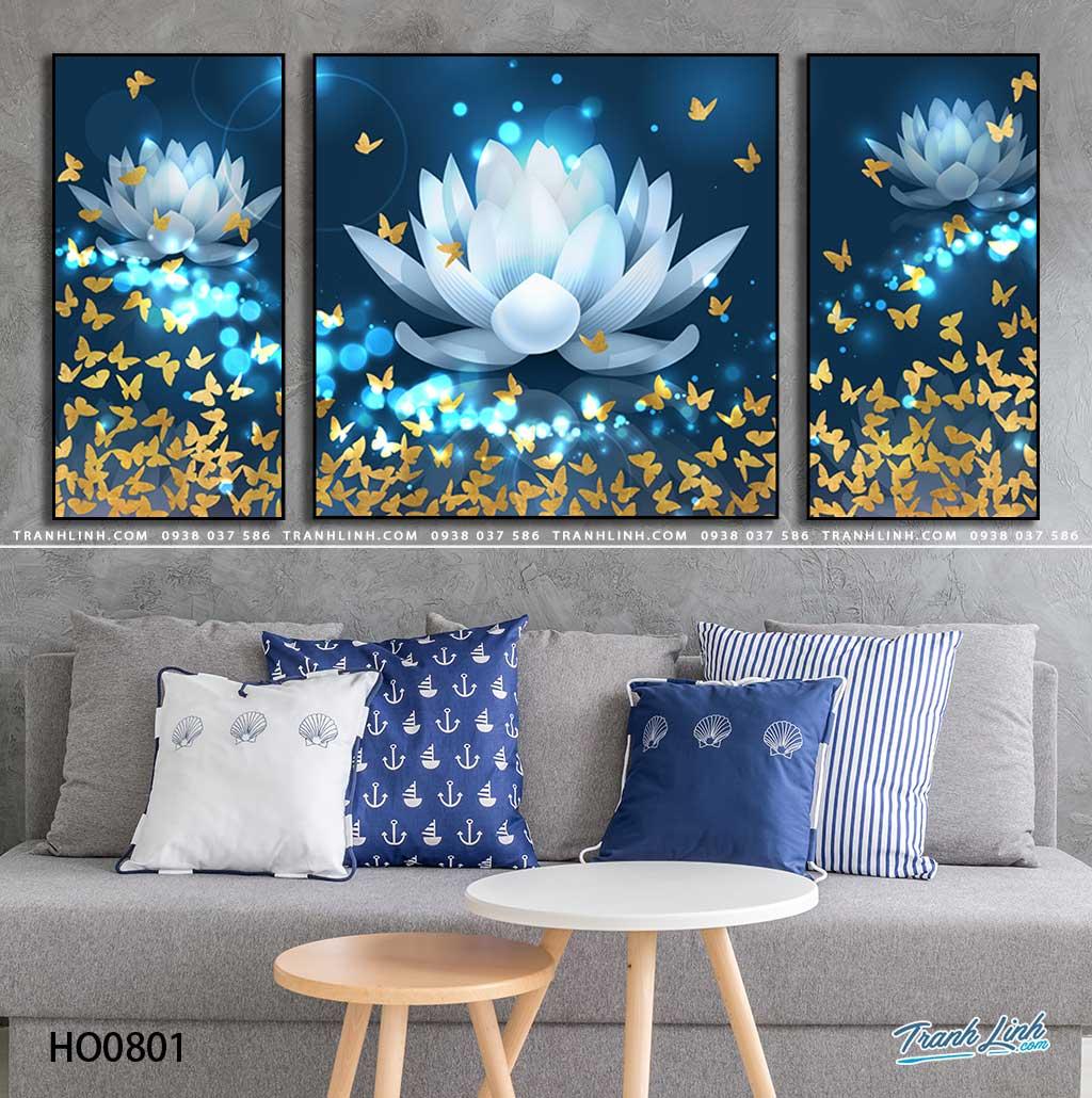 tranh canvas hoa 801