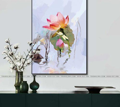 tranh canvas hoa 808