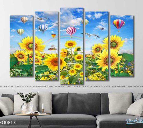 tranh canvas hoa 813