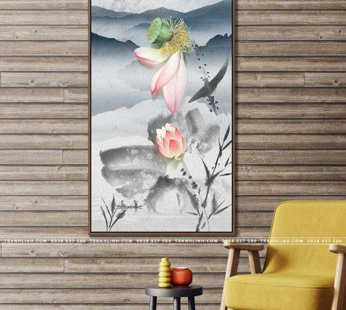 tranh canvas hoa 817
