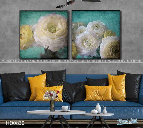 tranh canvas hoa 830