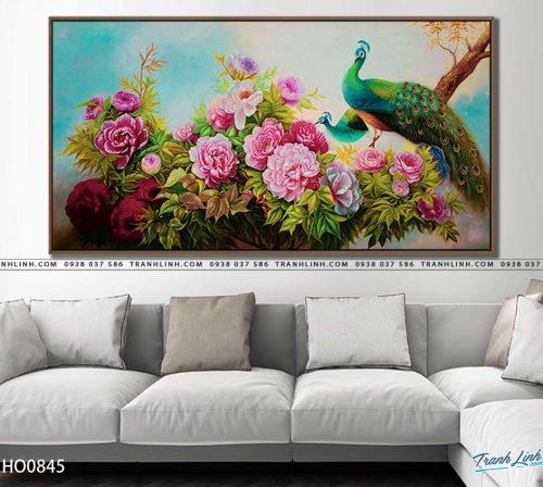tranh canvas hoa 845