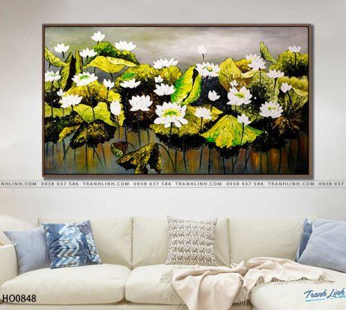 tranh canvas hoa 848