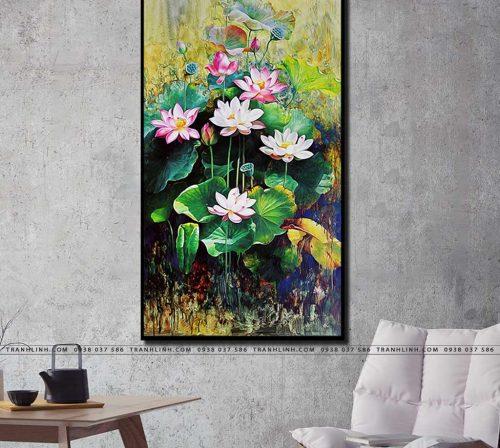 tranh canvas hoa 849