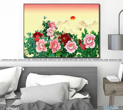 tranh canvas hoa 861