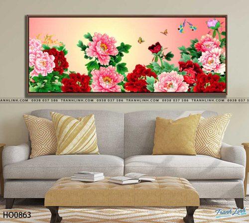 tranh canvas hoa 863