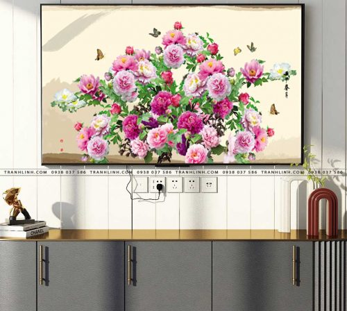 tranh canvas hoa 865