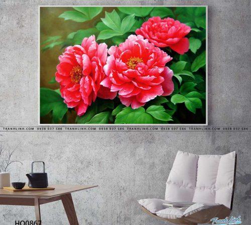 tranh canvas hoa 867