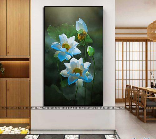tranh canvas hoa 886