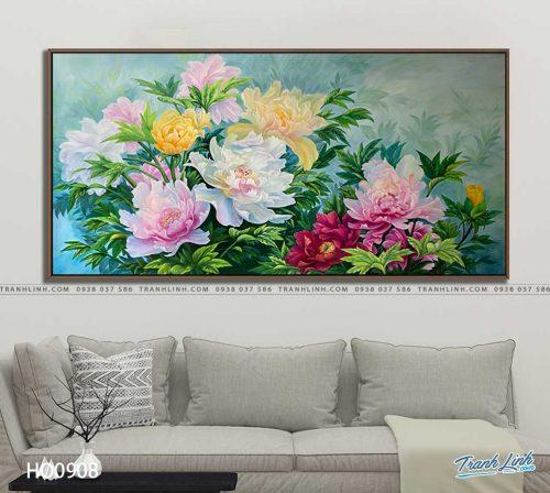 tranh canvas hoa 908