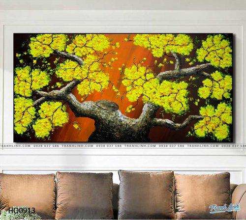 tranh canvas hoa 913