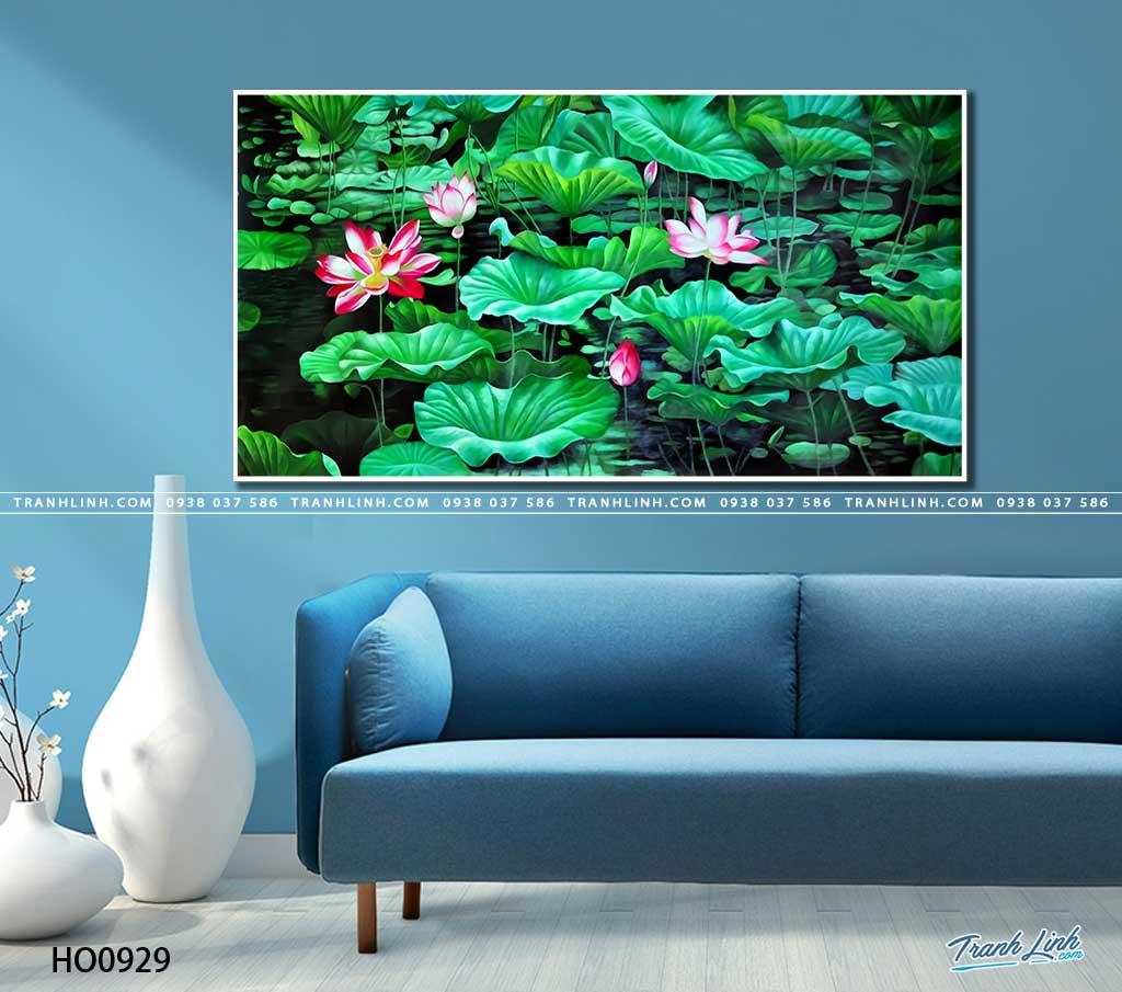 tranh canvas hoa 929