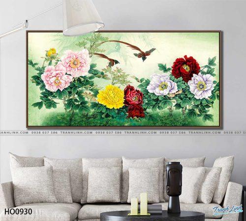 tranh canvas hoa 930