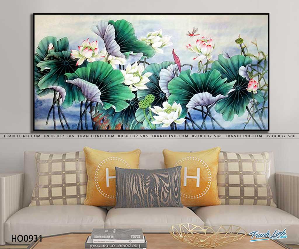 tranh canvas hoa 931