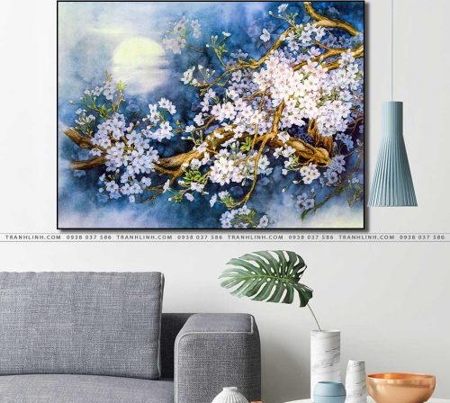 tranh canvas hoa 942