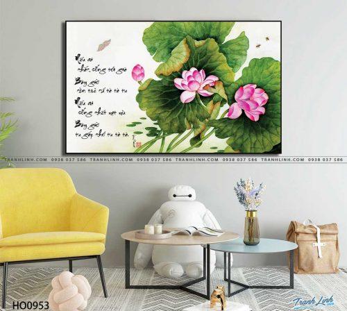 tranh canvas hoa 953