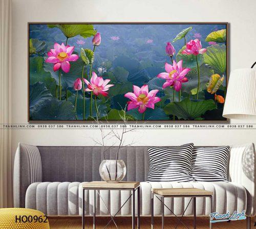 tranh canvas hoa 962