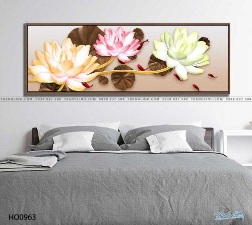 tranh canvas hoa 963