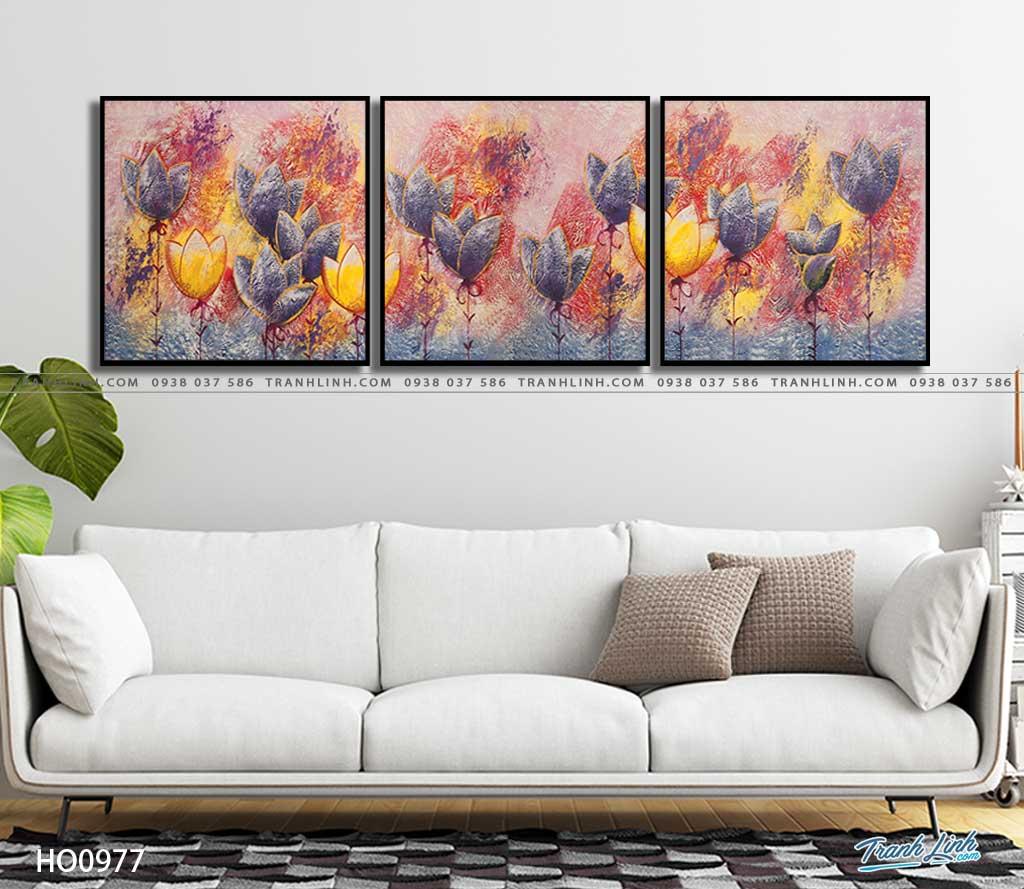 tranh canvas hoa 977