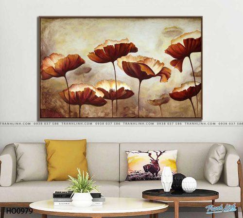 tranh canvas hoa 979