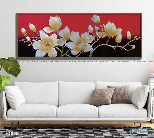 tranh canvas hoa 981