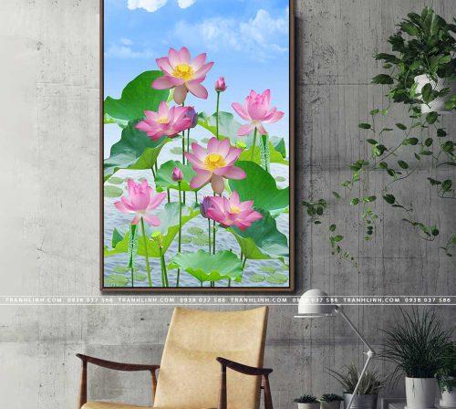 tranh canvas hoa 985