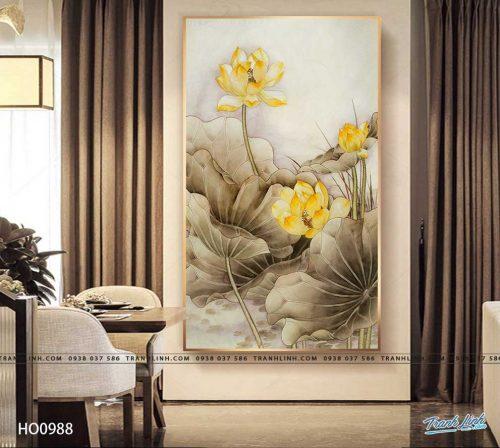 tranh canvas hoa 988