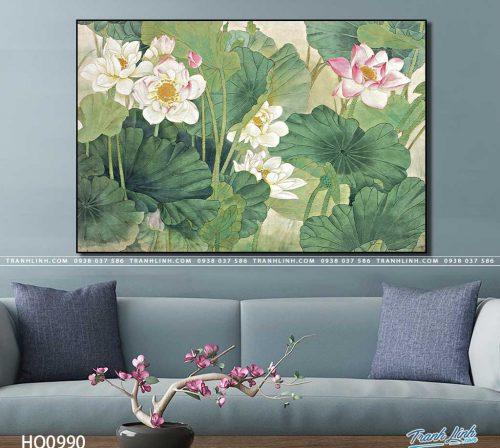 tranh canvas hoa 990