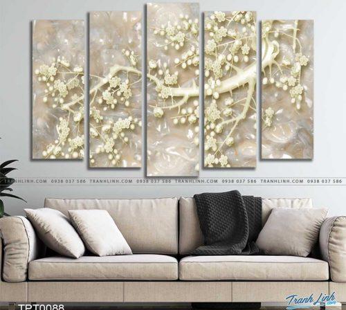 tranh canvas hoa dao 1
