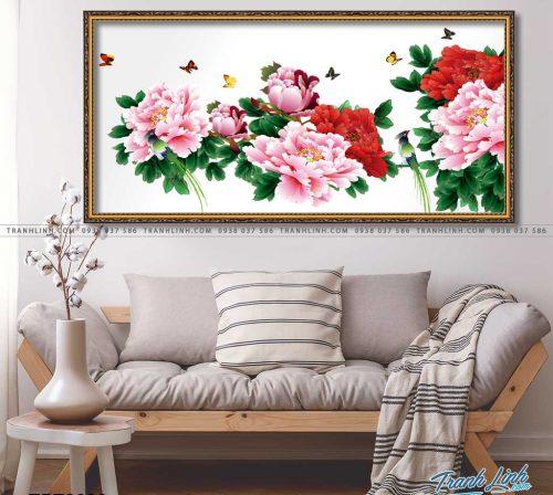 tranh canvas hoa mau don 1