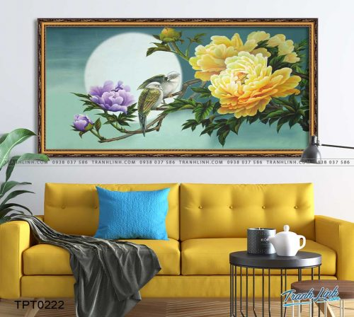 tranh canvas hoa mau don 2