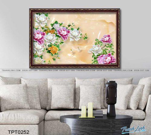tranh canvas hoa mau don 3