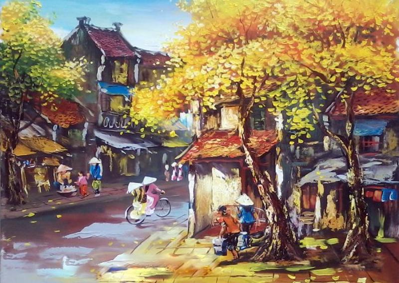 10 mẫu tranh phố cổ Hà Nội