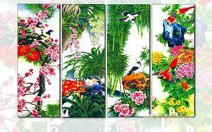 10 mẫu tranh Xuân Hạ Thu Đông