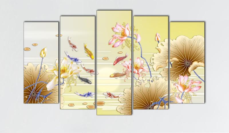 10 mẫu tranh Cửu Ngư Quần Hội
