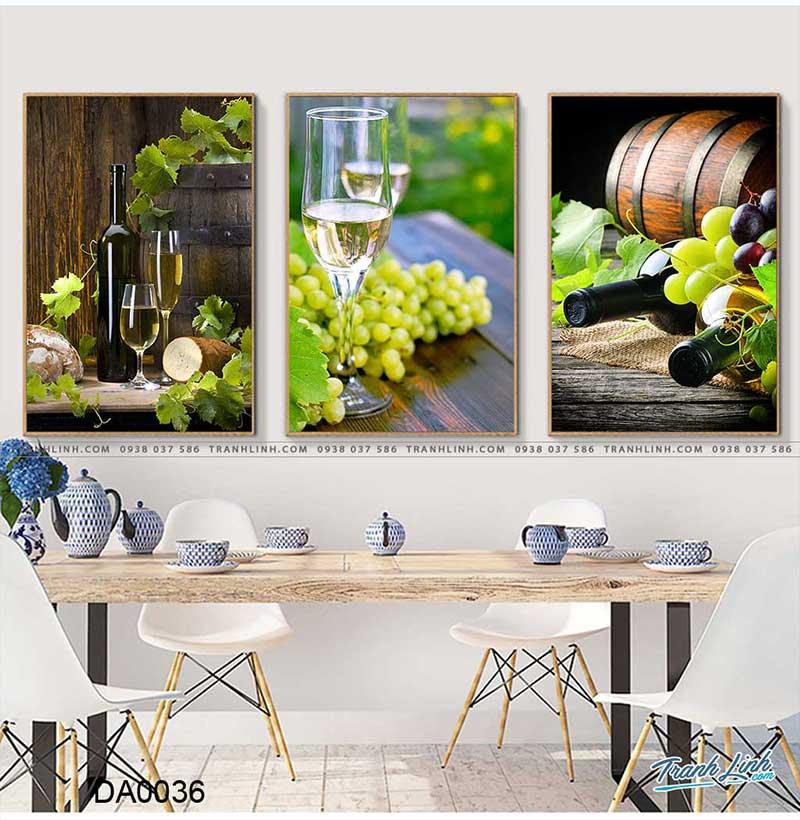 Phong cách tranh hiện đại với rượu và nho