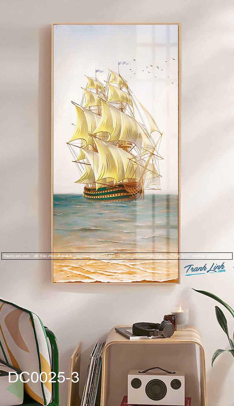 Cánh buồm no gió ra khơi- 10 mẫu tranh hiện đại đẹp