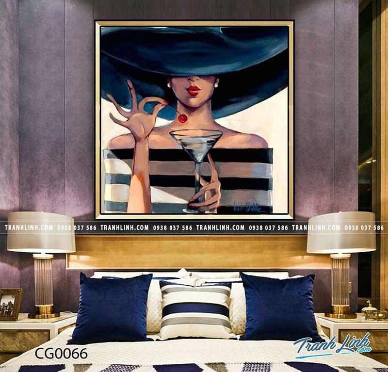 Mẫu tranh cô gái cá tính cực đẹp cho phòng ngủ