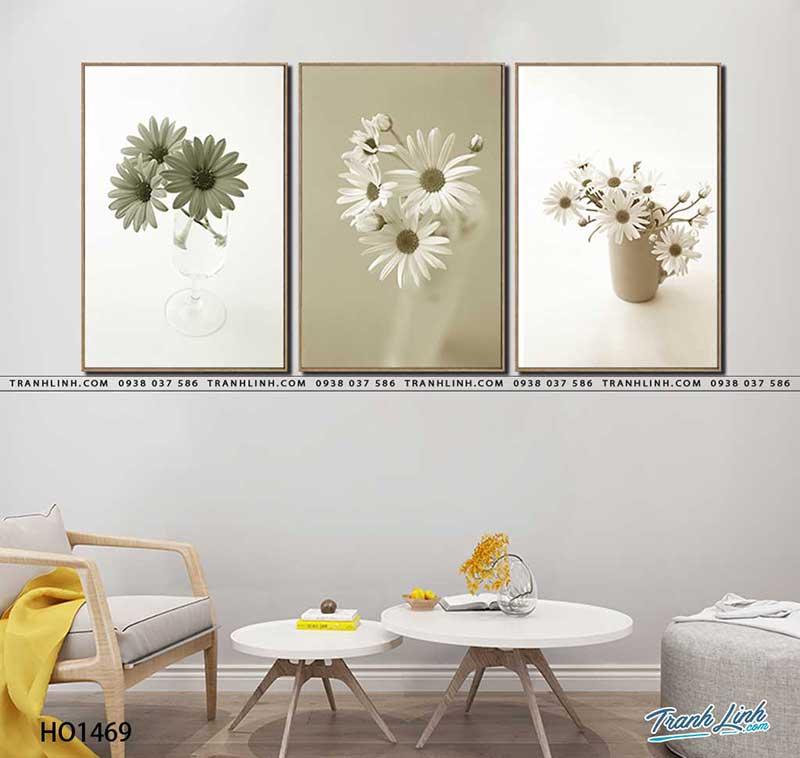 Màu trắng tinh khôi của hoa cúc- 10 mẫu tranh hiện đại đẹp