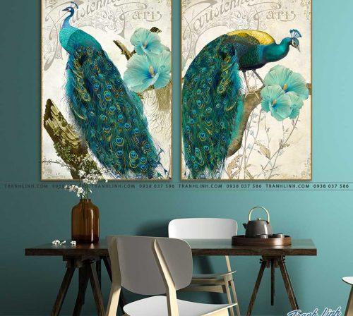 tranh chim cong 26