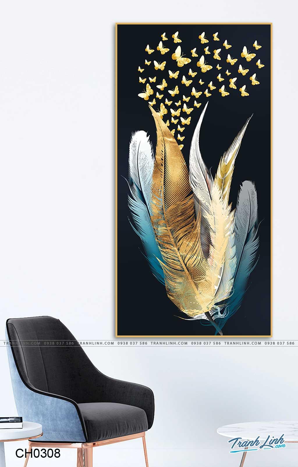 tranh chim long vu va dan buom 6